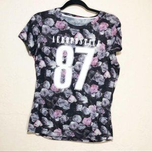 Aeropostale 87 Rose Floral T-shirt XL
